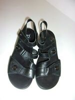 Women's GRAVITY DEFYER Black Wedge Comfort Sandals SIZE 6