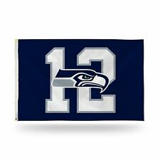 Seattle Seahawks 12th MAN Authentic 3x5 Polyester Indoor/Outdoor Flag Banner