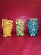 Ceramic Wise Owl Figurine Set