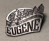 Eugene Oregon Travel Souvenir Silver Color Lapel Hat Pin Pinback ~ OR