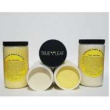100% PURE UNREFINED NATURAL RAW AFRICAN SHEA BUTTER IVORY YELLOW GHANA JAR 32oz