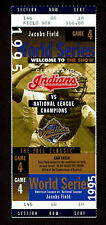 1995 WORLD SERIES GAME 4  FULL TICKET STUB ATLANTA BRAVES  vs INDIANS