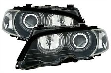 2 PHARE ANGEL EYES BMW SERIE 3 E46 COUPE CABRIOLET 1999-2003 NOIR CCFL LED