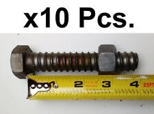 10 Pcs. Coil Thread Nuts & Bolts for Concrete Work, or Steampunk Industrial Art