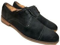 BANANA REPUBLIC Mens 12 M Black Suede Leather Oxfords Dress Casual Shoes Cap Toe