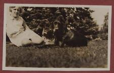Great Brampton. Lady & Dog 1930 'Deb & Anne'.    qp1245