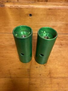 Bmx Bike Pegs 2 Candy Apple Green Treading Is Recessed Pretty Deep
