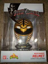 Bandai Power Rangers Legacy Collection White Ranger Helmet Saban
