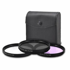 49mm 3-Piece Multi-Coated HD UV / CPL / FLD Filter Set 49mm  New