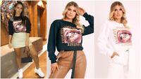 Womens Oversized Sweater Jumper Ladies Couture Winter Sweatshirt Pullover Top UK