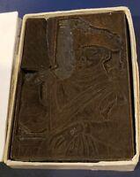IMPORTANT HISTORICAL Wood Cut Printer's Printing Block -Sir Francis Drake - 1708