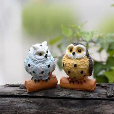 2 pcs Miniature Garden Owl Fairy Garden Animal Ornament Terrarium Supplies