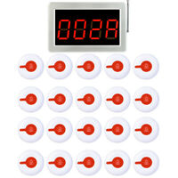 Restaurant Wireless Paging System 20*Call Button Pagers+LED Host Receiver 433MHz