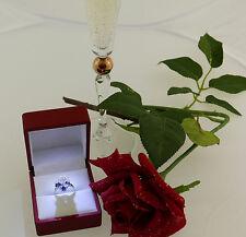 Ring 750 Gold Solitär Solitaire Zirkonia diamond Diamanten 0,80 ct +Saphir
