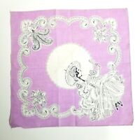 Vintage 1940's Handkerchief Lady Swinging with Mirror & Parasol