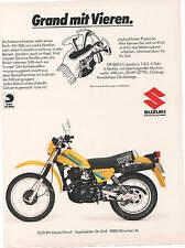SUZUKI  - DR 500 S  CROSSDURO  -  historische  Reklame -  alte  Annonce