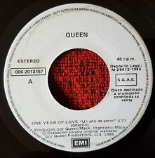 "QUEEN **One Year Of Love / Gimme The Prize** RARE 1986 SPAIN PROMO 7"" Single"
