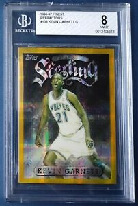 Kevin Garnett 1996-97 Topps Finest Gold Atomic Refractor #138 BGS 8