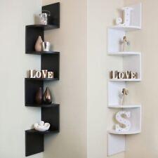 5 Tier Corner Shelf Floating Wall Shelves Storage Display Books Home Decor