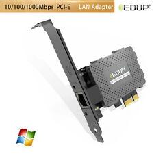EDUP Wake On PCIE Network Card 10/100/1000Mbps Ethernet Gigabit LAN Adapter