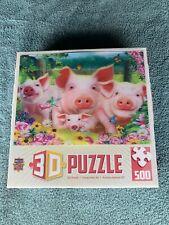 3D Puzzle Pigs 500 Pieces Master Pieces