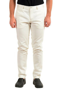 "Hugo Boss Men's ""Broad1-W"" Ivory Flat Front Casual Pants US 32R IT 48"