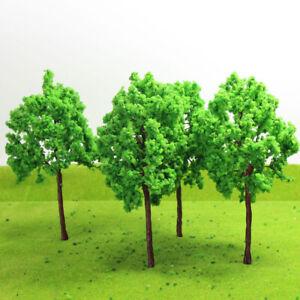 G16090 4pcs G O Scale 1:43 Model Tree Light Green Railway Diorama 16cm