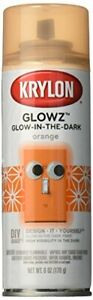 Krylon K03154007 Glowz Spray Paint, Glow-In-The-Dark Orange, 6 Ounce