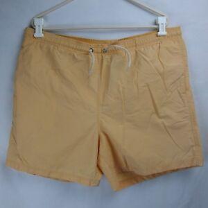 TOMMY HILFIGER Swim Trunks Mesh Lined Light Orange Men's Size XL