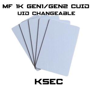 MF 1K Magic UID  Changeable UID  Gen1/Gen2 S50 BLOCK 0 WRITABLE CUID