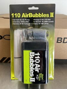 110 airbubbles II Air Pump Aerates 20 - 50 Gallons - Keeps Bait Alive For Days