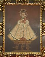 IMMACULATE CONCEPTION. OIL ON CANVAS. CUZQUEÑA SCHOOL. ANONYMOUS. XIX CENTURY