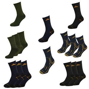 1- 3 Pairs WORK HIKING ARMY 2 TONE BOOT SOCKS - UK 6-11