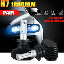 2x180W H7 Philips LED Headlight KIT HIGH LOW Beam Replace Halogen Xenon 18000LM
