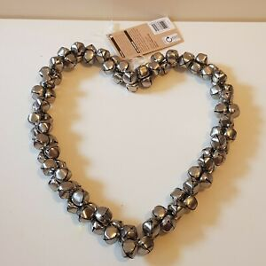 New Silver Bell Heart Hanging Decorations #1 Shabby Chic Home Decor Decoration