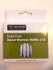 12x Pacco di mano più calda combustibile solido bastoni, da highlander.rods, Handwarmer RICARICHE