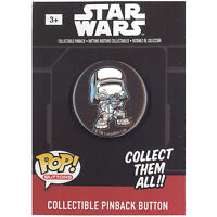 Funko Pinback Buttons - Star Wars Episode 7 - FIRST ORDER SNOWTROOPER (1.25 inch