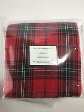 NWT $329 WILLIAMS SONOMA HOME Tartan BEDDING COLLECTION Linen Blend KING Duvet