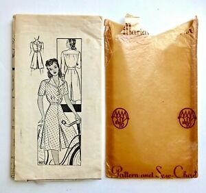 Vintage 1940s MARIAN MARTIN Sewing Pattern COULOT Split Skirt Dress Size 14