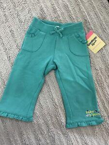 OshKosh Bgosh Baby Girl Sweat Pants Aqua Size 6 Months brand new