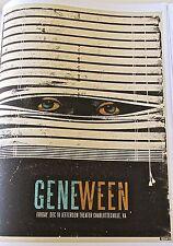 Gene Ween Mini- Poster Reprint for Concert in Charlottesville VA  14x10