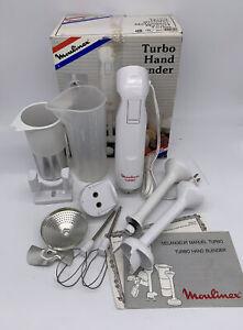Moulinex Turbo Hand Manual Blender Turbo Mixer Juicer Immersion Complete Kit