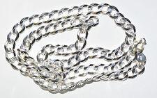 Argent 925 chaîne-chars chaîne-largeur 8mm-longueur 55 cm-poids 37,4 grammes