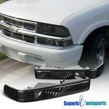 For 1998-2004 GMC Sonoma S10 Blazer Pickup Bumper Lights Signal Lamps Smoke