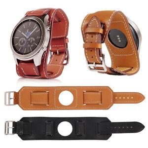 46mm Uhrenarmband Leder für Samsung Gear S3 Frontier Classic Watch Galaxy