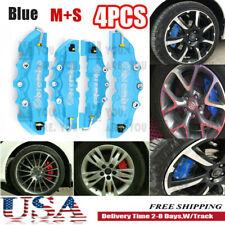 4pcs 3d Style Car Disc Brake Caliper Cover Front Amp Rear Kit Universal Blue Ms Fits Jaguar
