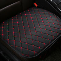 1x Black+Red Auto Seat Cover Front Cushion PU Leather Line Car Chair Accessories