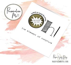 Personalised Card. Customized Surprise Gift Card. Boyfriend gift Girlfriend idea