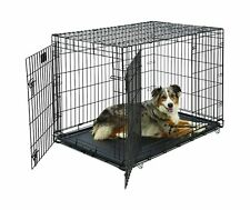 Large Dog Crate | MidWest Life Stages Double Door Folding Metal Dog Crate |