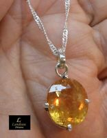 13.85 ct Royal Imperial Topaz Gemstone Pendant